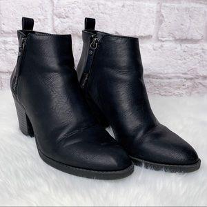 Universal Thread Black Ankle Boots Chunky Heel